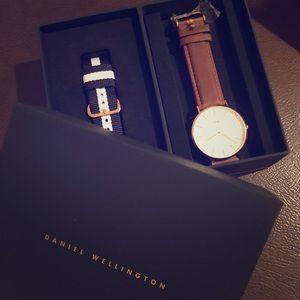 NWT Daniel Wellington 18k rose gold watch